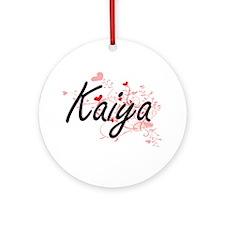 Kaiya Artistic Name Design with H Ornament (Round)