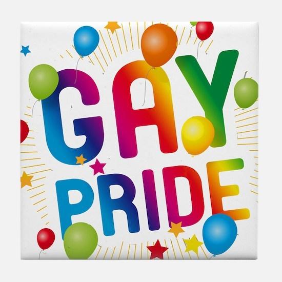 Gay Pride Celebration Tile Coaster