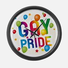 Gay Pride Celebration Large Wall Clock