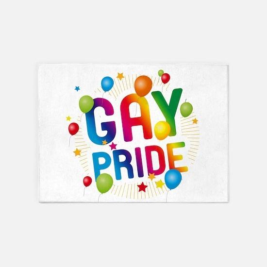 Gay Pride Celebration 5'x7'Area Rug