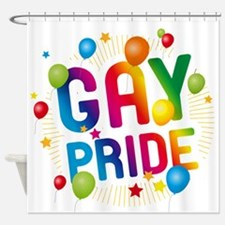 Gay Pride Celebration Shower Curtain