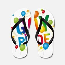 Gay Pride Celebration Flip Flops