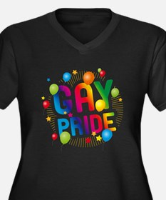 Gay Pride Ce Women's Plus Size V-Neck Dark T-Shirt