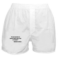 Abraham Lincoln Quote Boxer Shorts