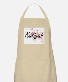 Kaliyah Artistic Name Design with Hearts Apron