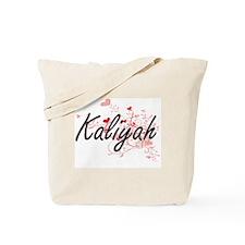 Kaliyah Artistic Name Design with Hearts Tote Bag