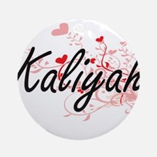 Kaliyah Artistic Name Design with Ornament (Round)