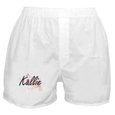 Kallie Artistic Name Design with Hear Boxer Shorts
