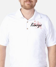 Kamryn Artistic Name Design with Hearts T-Shirt