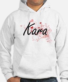 Kara Artistic Name Design with H Hoodie Sweatshirt