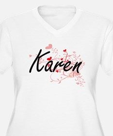 Karen Artistic Name Design with Plus Size T-Shirt