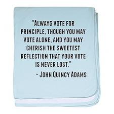John Quincy Adams Quote baby blanket