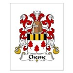 Chesne Family Crest Small Poster