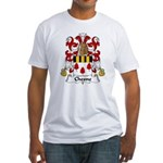 Chesne Family Crest Fitted T-Shirt