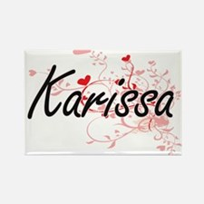 Karissa Artistic Name Design with Hearts Magnets