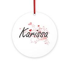 Karissa Artistic Name Design with Ornament (Round)