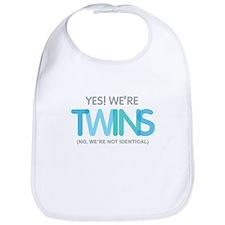 Yes Were Twins Fraternal Bib