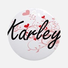 Karley Artistic Name Design with Ornament (Round)