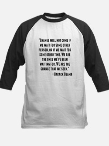 Barack Obama Quote Baseball Jersey