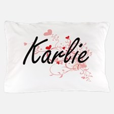 Karlie Artistic Name Design with Heart Pillow Case