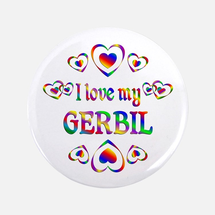 """I Love My Gerbil 3.5"""" Button (100 pack)"""
