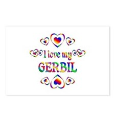 I Love My Gerbil Postcards (Package of 8)