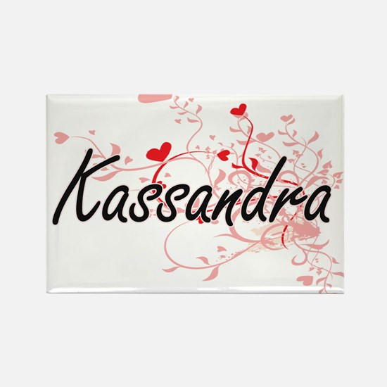 Kassandra Artistic Name Design with Hearts Magnets