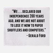 Gerald Ford Quote Throw Blanket