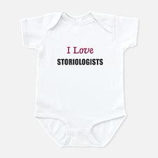 I Love STORIOLOGISTS Infant Bodysuit