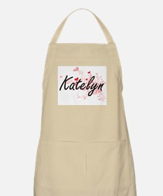 Katelyn Artistic Name Design with Hearts Apron