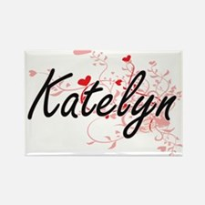 Katelyn Artistic Name Design with Hearts Magnets