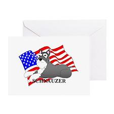 Schnauzer USA Greeting Card