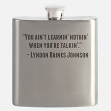 Lyndon Baines Johnson Quote Flask