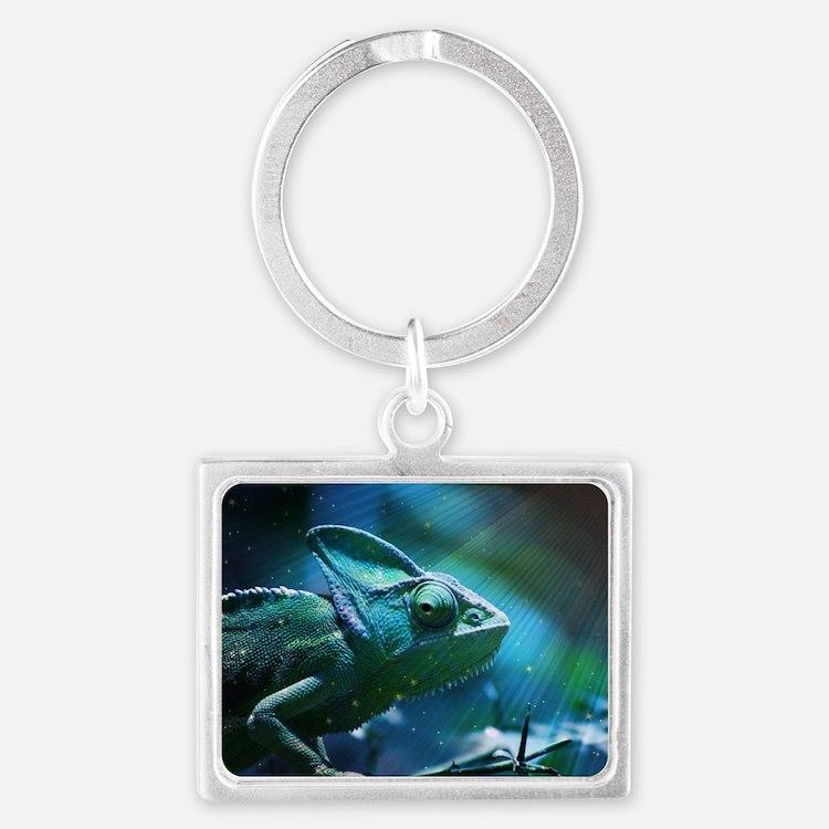 Chameleon Landscape Keychain