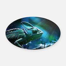 Chameleon Oval Car Magnet