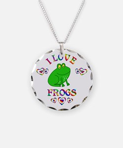 I Love Frogs Necklace