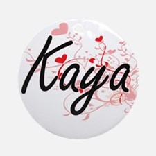 Kaya Artistic Name Design with He Ornament (Round)