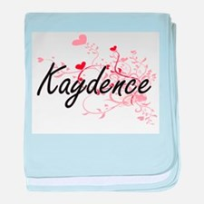 Kaydence Artistic Name Design with He baby blanket