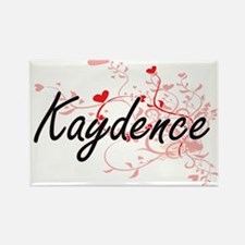 Kaydence Artistic Name Design with Hearts Magnets