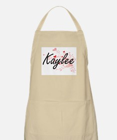 Kaylee Artistic Name Design with Hearts Apron