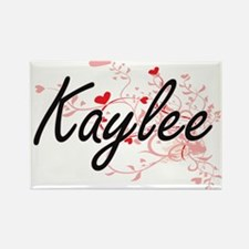 Kaylee Artistic Name Design with Hearts Magnets