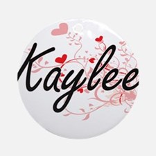 Kaylee Artistic Name Design with Ornament (Round)