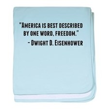Dwight D. Eisenhower Quote baby blanket