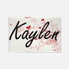 Kaylen Artistic Name Design with Hearts Magnets