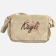 Kayli Artistic Name Design with Hear Messenger Bag