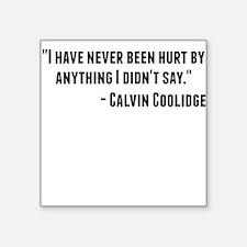 Calvin Coolidge Quote Sticker