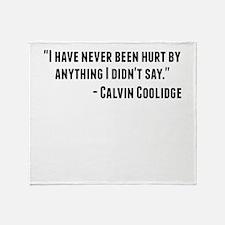 Calvin Coolidge Quote Throw Blanket