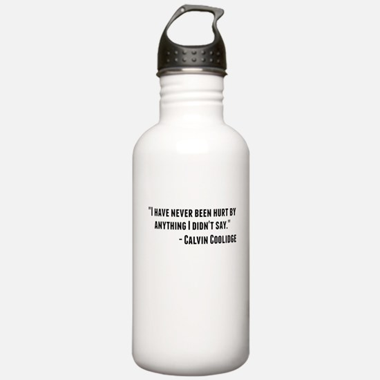 Calvin Coolidge Quote Water Bottle