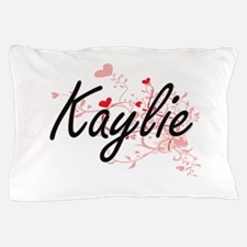 Kaylie Artistic Name Design with Heart Pillow Case