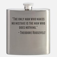 Theodore Roosevelt Quote Flask